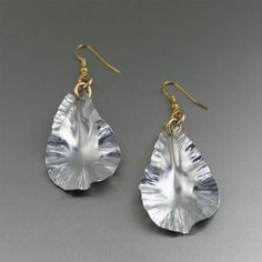 Aluminum Leaf Dangle Earrings  $65.00