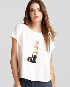 Lipstick Asymmetric Tee   Bloomingdale's