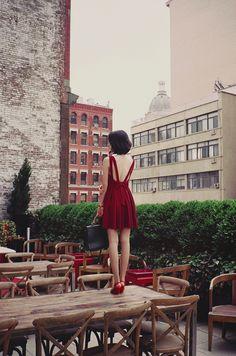 red dress - storenvy DRE0048-