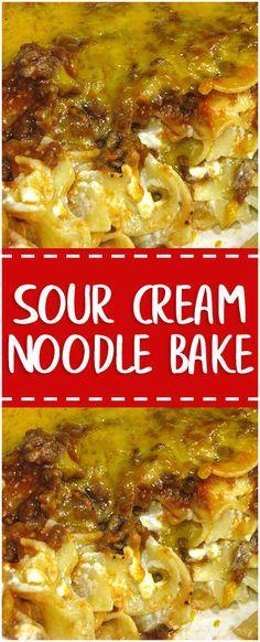 Sour Cream Noodle Bake #whole30 #sour #cream #noodle #bake #cooking #cookingtips
