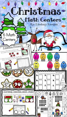 Christmas math centers - 6 fun and festive math centers