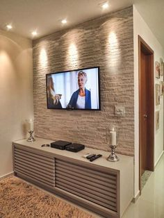 Trendy Living Room Tv Wall Ideas Classic - Home Decor Living Room Tv, Home And Living, Modern Living, Tv Wall Decor, Wall Tv, Decoration Inspiration, Decor Ideas, Interior Decorating, Interior Design