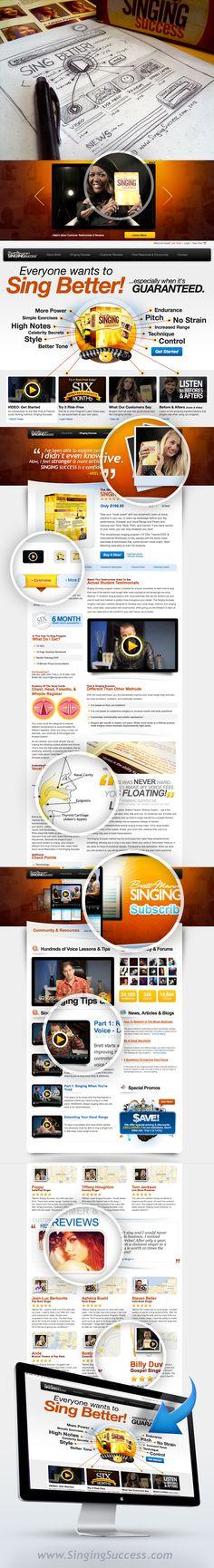 Website Design / Web Design / CSS Singing Success  www.singingsuccess.com