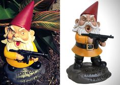 Scarface Garden Gnome - Let me introduce you with my little friend.