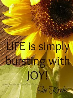 Inspirational Quote: Life Is Simply Bursting With Joy - Joy Quotes