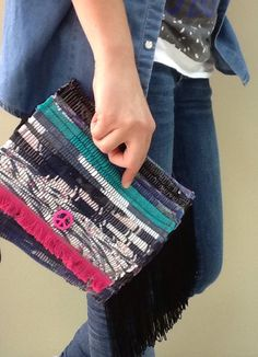 handmade bohemian clutch bag