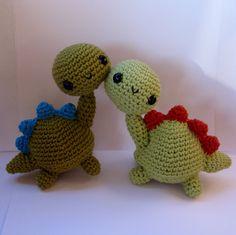 Amigurumi Dinosaur PDF crochet pattern by anapaulaoli on Etsy Love Crochet, Crochet For Kids, Diy Crochet, Crochet Toys, Crochet Things, Crochet Flower, Crochet Baby, Crochet Dinosaur, Dinosaur Pattern