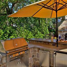 Masonry Work, Stone Masonry, Outdoor Kitchen Design, Patio Design, Outdoor Kitchens, Outdoor Spaces, Outdoor Living, Outdoor Decor, Outdoor Bars