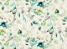 Mariola Jade | Saphira | Printed Cotton-Linen | Romo Fabrics | Designer Fabrics & Wallcoverings, Upholstery Fabrics