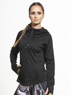 Classic Long Weekend Pull Over Hoodie by RUNNING BARE in Black