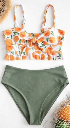 ZAFUL Orange Print Tied Peplum Tankini Set Style: Fashion Swimwear Type: Tankini Gender: For Women Material: Nylon,Polyester,Spandex Bra Style: Padded Support Type: Wire Free Collar-line: Spaghetti Straps Pattern Type: Orange Decoration: Cut Out,Ru Bikinis Tumblr, Summer Bikinis, Cute Bikinis, Bathing Suits For Teens, Summer Bathing Suits, Cute Bathing Suits, Cute Swimsuits, Women Swimsuits, Fashion Sketchbook