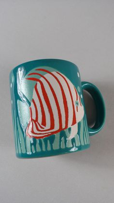 Waechtersbach Coffee Mug Cup Angel Fish Striped http://etsy.me/1RFJUsV #germany #clearance #deals #gifts #etsy #vintage