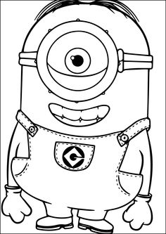 Minion Dave The Minion is Happy Coloring Page Dave The Minion Is