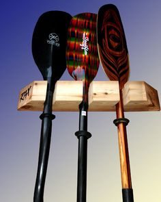 Canoe Paddle Holder Maple Stained In Your Colour Choice