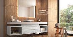 Que tal a combinação dos padrões de MDF Savana e Sibéria para o seu banheiro? #MDF #decoraçãoMDF #decoração #DesignInteriores #padrõesMDF #homedecor #decoração #quarto #peçasMDF #guardaroupamdf