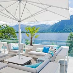 Giardino Lago is an imaginative and relaxed oasis designed to make the most of the views from its inimitable setting of Lake Maggiore - book a room now! Unique Settings, Unique Hotels, Hotel Interiors, Outdoor Furniture Sets, Outdoor Decor, Hotel Deals, Restaurant Design, Lodges, Interior And Exterior