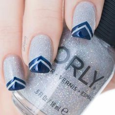 Lovely Silver Glitter with Navy (Shared by Orly)