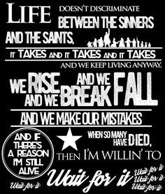 Wait For It - Hamilton (white) by kissmypegs