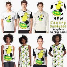 New Canary Fan Merchandise, Clothing, T-shirts and Gifts - Subbuteo Design