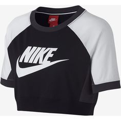 Nike Sportswear Women's Short Sleeve Top. Nike.com ($45) ❤ liked on Polyvore featuring tops, nike top, short sleeve tops and nike