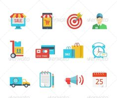 Purchase and Delivery Icons