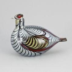 ** Oiva Toikka, Iittala, Nuutajärvi, Finland. Glass Bird. Bird Design, Retro Design, Glass Design, Design Art, Kosta Boda, Glass Birds, Scandinavian Design, Modern Contemporary, Glass Art