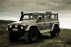 My dream car! Land Rover Defender, converted for driving on snow and glaciers as well as every tough highland trail Iceland has to offer :)