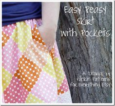 Easy Peasy Skirt with Pockets {Sewing Tutorial}