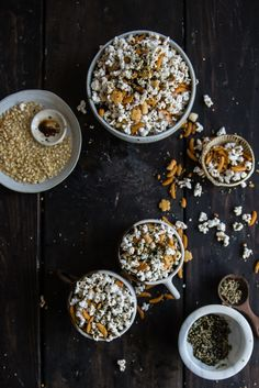hurricane popcorn | two red bowls