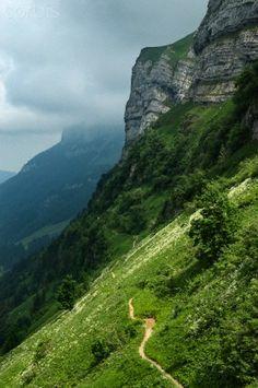 Schrennenweg to Meglisalp, Appenzell