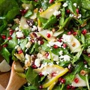 Cranberry avocado spinach salad with orange poppyseed dressing