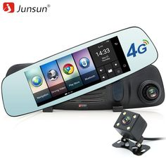 4G Car GPS DVR Mirror 7 inch Android GPS Navigation with Rearview Came                      – DualMax
