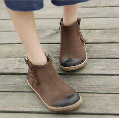 Handmade Flat Shoes for Women, Oxford Shoes, Ankle Booties,Women Leather Shoes Very Comfortable More Shoes: https://www.etsy.com/shop/HerHis?ref=shopsection_shophome_leftnav ♥♥♥♥♥♥If you do not know which size you need to choose, please tell me the size you usually wear in your country or