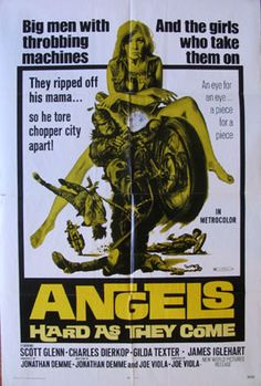 ANGELS HARD AS THEY COME Movie Poster (1971) || HOT ROD / BIKER Movie Posters   @ FilmPosters.Com - Vintage Movie Posters and More