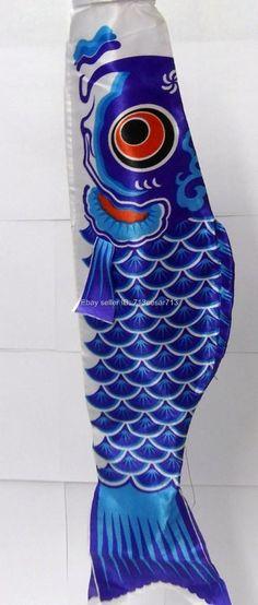 "20"" Long Japanese Boy Day Party Kite Koi Carp Fish KOINOBORI Silk Wind Sock #Bu2 picclick.com"