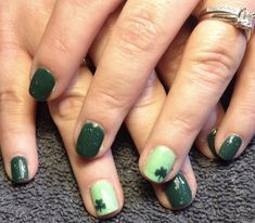 Nails by our #professionalnailtech Janice. Call 724-221-6719 to pamper yourself with a #manicure.  #michelles #greensburg #greensburgpa #hempfield #westmorelandcounty #salon #spa #nailservice #nailservices #opi #nails #nailart #naildesigns #stpattysday #stpattysdaynails #stpattysday2018 #stpattysdayready