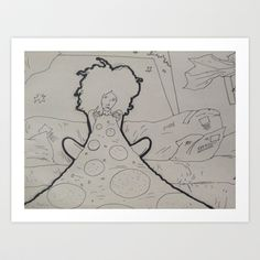 "orgasmic pizza Art Print by Bern ""magic"" campbell - $12.48"