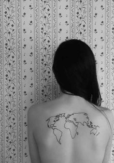 Back tattoos are very common among tattoo society. There are many types of tattoos that can be inked on your back. Check out our collection of back tattoos Mini Tattoos, Body Art Tattoos, Tatoos, Piercing Tattoo, Piercings, Tinta Tattoo, Karten Tattoos, Insane Tattoos, World Map Tattoos