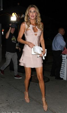 Show-off: Brandi Glanville showed plenty of skin while out to dinner in West Hollywood on ...