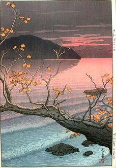 Autumn at Nenokuchi, Towada Lake by Hasui (1933)