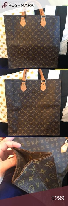 8870b6d8a372 Authentic Louis Vuitton Sac Plat Shopper Tote Exterior is in fantastic  condition. However inside is
