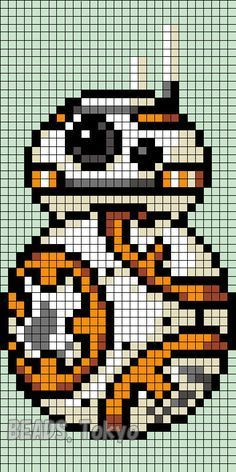 BB-8 Star Wars: The Force Awakens Perler Bead Pattern - BEADS.Tokyo: