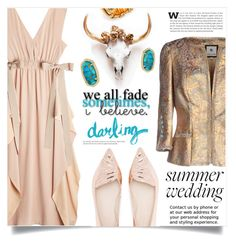 """""""Say I Do: Summer Weddings"""" by dolly-valkyrie ❤ liked on Polyvore featuring Fendi, Sophia Webster, Veronik Alexandre, Kendra Scott, Roberto Coin and summerwedding"""