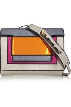 Pierre Hardy Color-block metallic leather clutch  | NET-A-PORTER