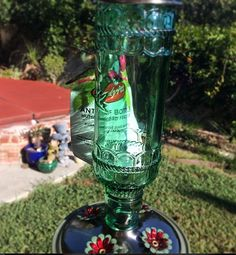 I got my Stylish Antique Glass Bottle Hummingbird Feeder for only $13.31 shipped with Amazon Prime!  GORGEOUS!