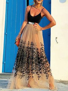 U Neck Sleeveless Backless Long Dress - Power Day Sale#newin #newarrivals #justdropped #newseason #fashionintrend Backless Long Dress, Cute Fall Outfits, Tie Dye Skirt, Casual Wear, Clothes For Women, Stylish, How To Wear, My Style, Model