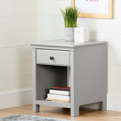 This amazing photo is an extremely inspirational and superb idea #bedroomfurnitureideas 2 Drawer Nightstand, Kids Nightstands, Minimalist Nightstand, Bedside Storage, Bedroom Storage, Small Drawers, Small Tables, Minimalist Design, Gray