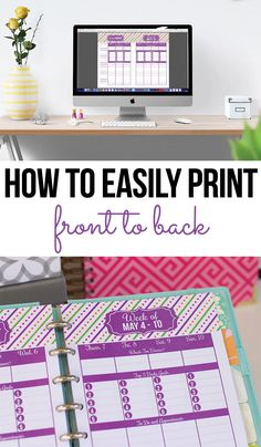 How to print front to back (double sided) quickly and easily. (video) I'm sharing my quick and easy tip to ensure that you don't have go through a bunch of trial and error and waste ink and paper every time you want to print something back to back.
