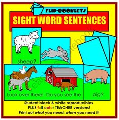 Sight Word Sentences Flip Booklets from Mister Kindergarten on TeachersNotebook.com (32 pages)  - Students learn over 100 sight words by creating these easy-to-read flip booklets!
