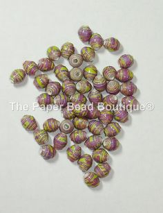 Paper Beads Loose Handmade Itty Bitty by ThePaperBeadBoutique